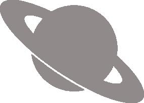 Светоотражающий стикер Сатурн
