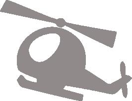 Светоотражающий стикер Вертолёт