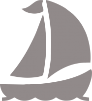 Светоотражающий стикер Яхта