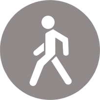 Светоотражающий стикер Знак Пешехода