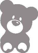 Светоотражающий стикер Медведь